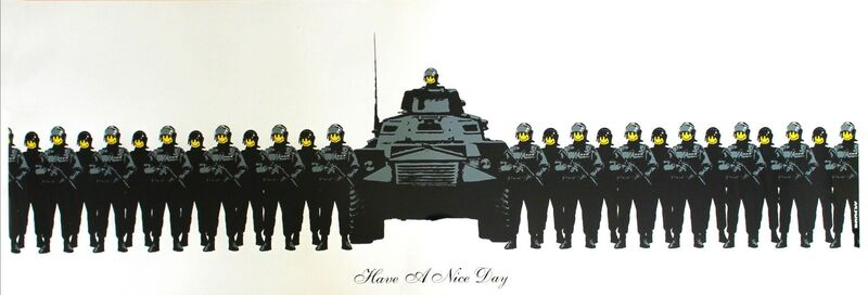 Banksy, 'Have A Nice Day', 2003, Print, Screenprint on Paper, The Drang Gallery
