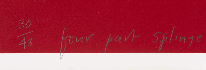 David Hockney, 'Four Part Splinge', 1993, Print, Lithograph and screenprint, Hindman