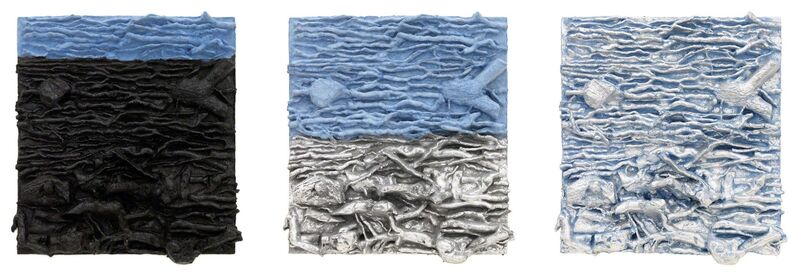 Leonardo Drew, '26P', 2014, Print, Cast pigmented handmade paper with hand-applied ink and pigment, Pace Prints