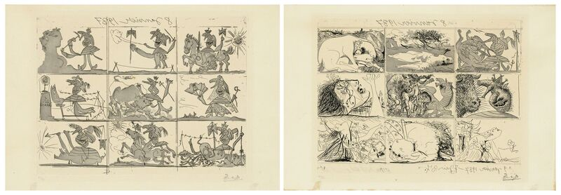 Pablo Picasso, 'Sueño y Mentira de Franco I & II', 1937, Print, Two etchings with aquatint on Montval laid paper, Christie's