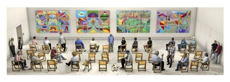 David Hockney, 'Pictures at an Exhibition', 2018, Print, Dessin photographique imprime sur papler et mante sur lauminium, U Square