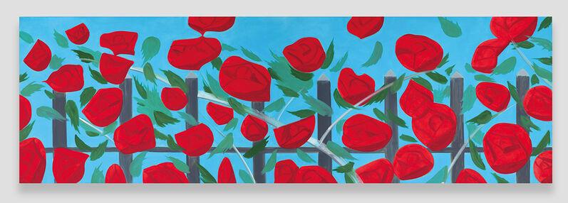 Alex Katz, 'Roses on Blue', 2002, Painting, Oil on canvas, Opera Gallery
