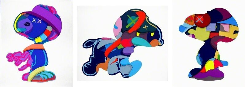 KAWS, 'Snoopy Set of 3 prints - No One's Home; Stay Steady; The Things that Comfort', 2015, Print, A set of three silkscreens, Pop Fine Art