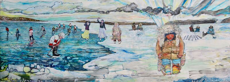 Marjorie Scholl, 'Sharing Spaces: On the Ice', 2018, Painting, Acrylic on canvas, McVarish Gallery