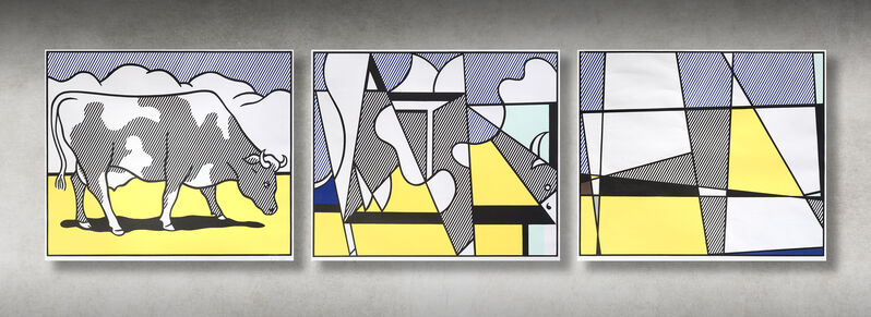 Roy Lichtenstein, 'Cow Triptych: Cow Going Abstract', 1982, Print, Screen print in colours on wove paper, Tate Ward Auctions