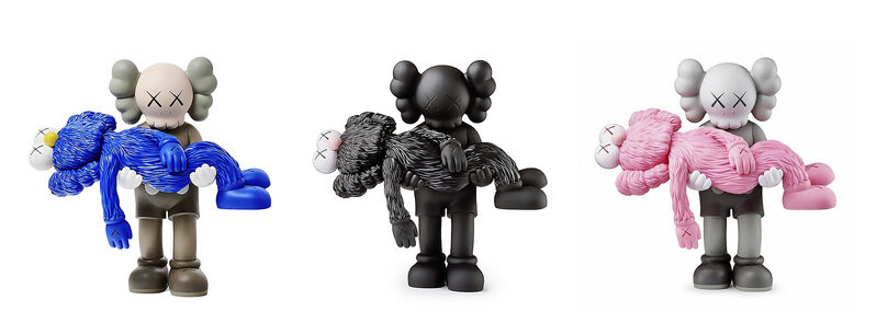 KAWS, 'Gone (Black, Brown & Grey)', 2019, Sculpture, A complete set of three cast vinyl figures, Tate Ward Auctions