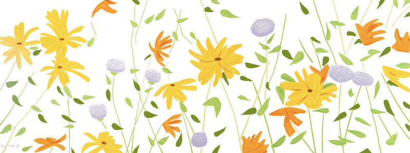 Alex Katz, 'Alex Katz, Summer Flowers', 2018, Print, Silkscreen on canvas, Oliver Cole Gallery