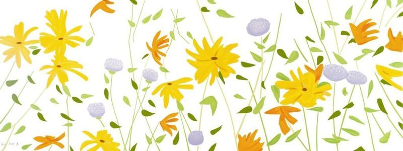 Alex Katz, 'Summer Flowers', 2018, Print, Enamel-based silkscreen inks printed on gessoed canvas stretched to the artist's specifications, Haw Contemporary