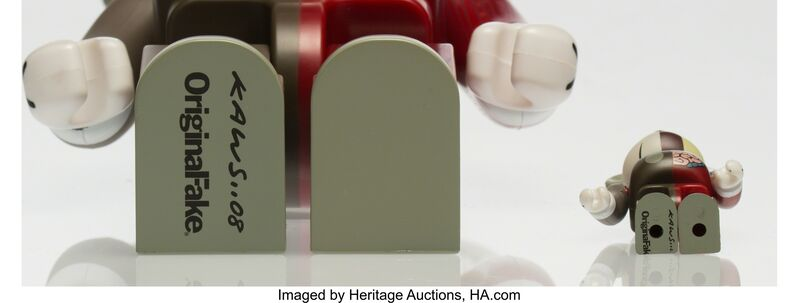 KAWS, 'BE@RBRICK Dissected Companion 100% and 400% (Red) (two works)', 2008, Other, Painted cast vinyl, Heritage Auctions