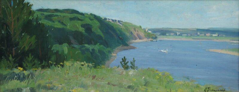Aleksandr Timofeevich Danilichev, 'Bank of the river Oka', 1962, Painting, Oil on cardboard, Surikov Foundation
