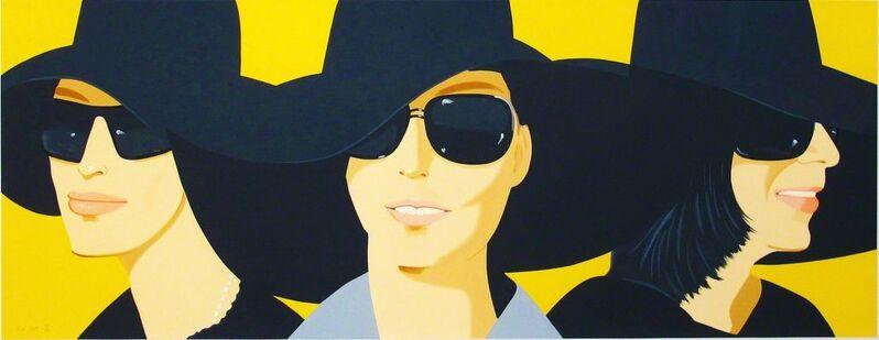 Alex Katz, 'Black Hats IV', 2012, Print, Screenprint in sixty-eight colors, Hamilton-Selway Fine Art
