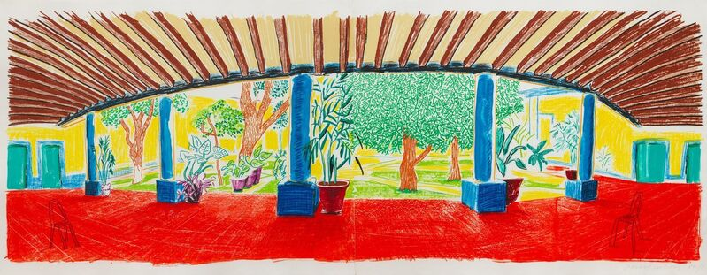 David Hockney, 'Hotel Acatlán: First Day, from Moving Focus', 1984-1985, Print, Lithograph in colors, on wove paper, Upsilon Gallery