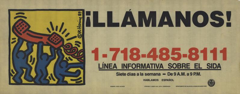 Keith Haring, 'Call Us!', 1989, Ephemera or Merchandise, Serigraph, ArtWise