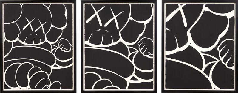 KAWS, 'Three Works: RUNNING CHUM', 2000, Print, Silkscreen on arches paper, Phillips