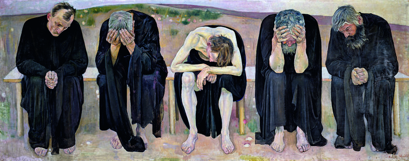 Ferdinand Hodler, 'The Disappointed Souls (Les âmes déçues)', 1892, Painting, Oil on canvas, Guggenheim Museum