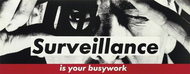 Barbara Kruger, 'Surveillance is your busywork', ca. 1983, Print, Lithograph in colours, Printed on thick paper/card, RAW Editions