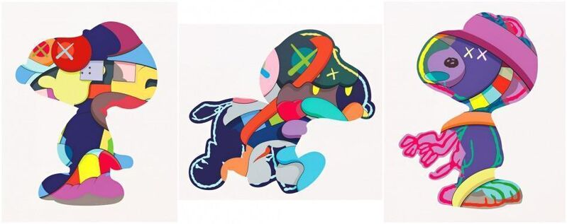KAWS, 'Snoopy Print Set (No One's Home; Stay Steady; The Things That Comfort)', 2015, Print, Silkscreen on paper, Carmichael Gallery