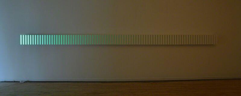 Adam Barker-Mill, 'Long Slat Piece', 2014, Installation, MDF, Deal painted matt white, LED Strip, Bartha Contemporary