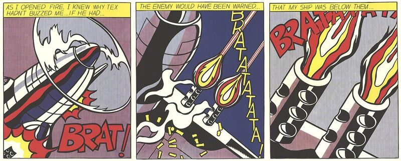 Roy Lichtenstein, 'As I Opened Fire (Triptych)', 1966, Posters, Offset Lithograph, ArtWise