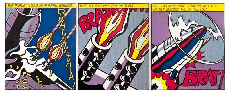 Roy Lichtenstein, 'As I opened fire', 1966, Print, 3 color lithographs on paper, Samhart Gallery