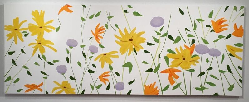 Alex Katz, 'Summer flowers', 2018, Mixed Media, Enamel-Based silkscreen ink in colors printed on gessoed canvas stretched to artist's specification, Dranoff Fine Art