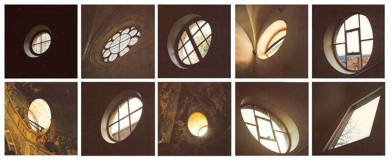 Jan Dibbets, 'Ten Windows', 1997, Photography, A series of 10 photographs contained within a portfolio designed by the artist, Cristea Roberts Gallery