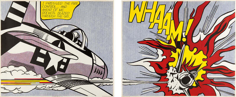 Roy Lichtenstein, 'Whaam! Poster', 1967, Print, Two offset lithographs in colors, on wove paper, with full margins., Phillips