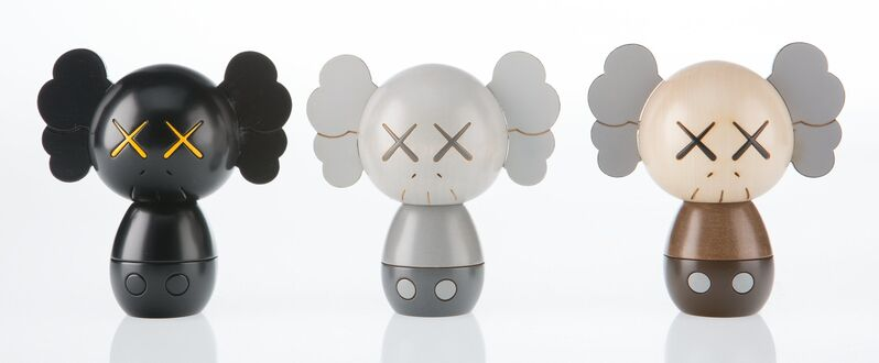 KAWS, 'Kokeshi Doll, from Holiday Series, (set of three)', 2019, Sculpture, Painted wood, Heritage Auctions