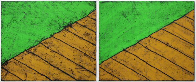Matt Mullican, 'Untitled (Elements 01)', 2012, Painting, Oilstick, acrylic on canvas, rubbing, Mai 36 Galerie