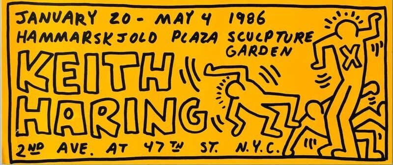 Keith Haring, 'Keith Haring illustrated 1986 announcement', 1986, Ephemera or Merchandise, Offset printed announcement, Lot 180
