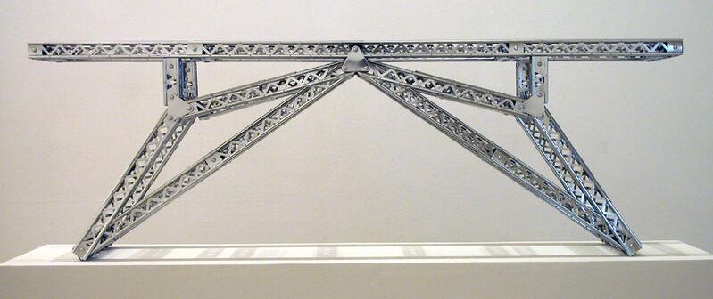 Chris Burden, 'Indo-China Bridge', 2003, Sculpture, Stainless steel reproduction Mysto type I Erector parts, Galerie Krinzinger