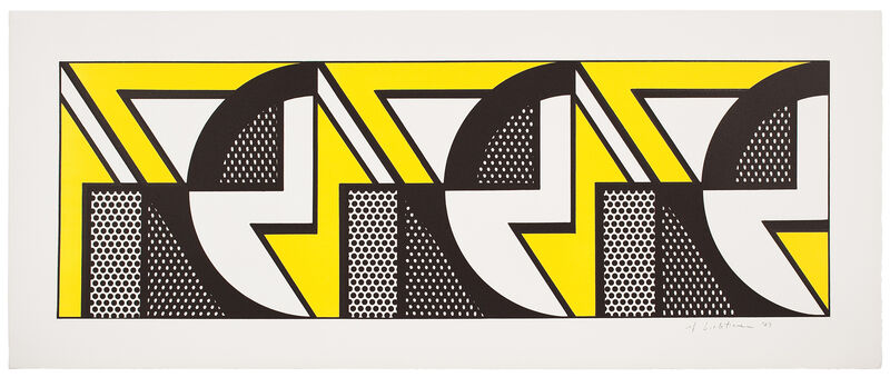 Roy Lichtenstein, 'Repeated Design', 1969, Print, 2-color lithograph on Arches paper, Gemini G.E.L. at Joni Moisant Weyl