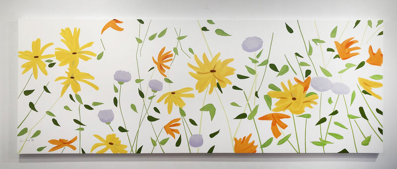 Alex Katz, 'Summer Flowers', 2018, Print, Enamel-based silkscreen inks printed on gessoed canvas stretched to the artist's specifications., Air Mattress Gallery