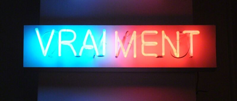 Fabien Chalon, 'Vraiment', 2017, Sculpture, Neon light, wood, plexiglass, Galerie Olivier Waltman   Waltman Ortega Fine Art