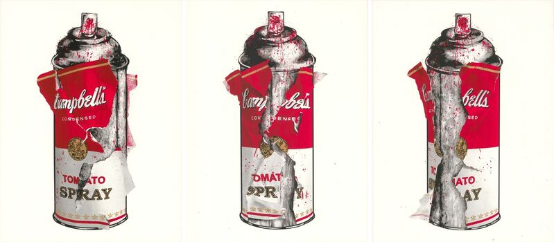 Mr. Brainwash, 'Torn Spray Can - Set', 2020, Print, Silkscreen on Paper, Taglialatella Galleries