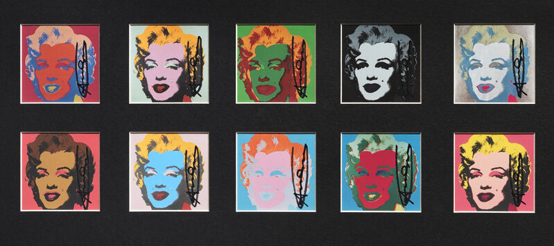 Andy Warhol, 'The 10 Marilyn's', 1967, Print, Offset lithographs in colours, Tate Ward Auctions