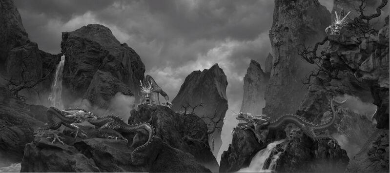Yang Yongliang 杨泳梁, '五龙图  Five Dragons', 2021, Video/Film/Animation, 4K视频   4K Video, Matthew Liu Fine Arts