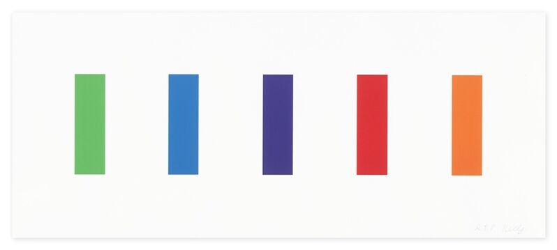 Ellsworth Kelly, 'Color Panels', 2011, Print, Lithograph in colors, on wove paper, Upsilon Gallery