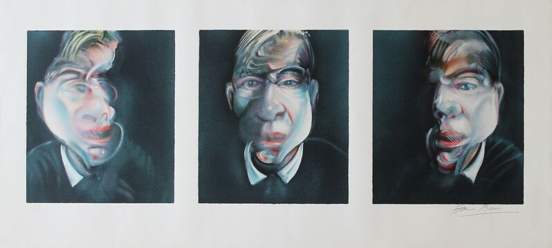 Francis Bacon, 'Three studies for a self portrait', 1981, Print, Lithograph, Castlegate House Gallery