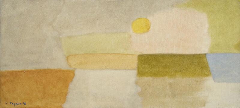 Vera Pagava, 'Paysage ensoleillé', 1958, Painting, Oil on wood, Jeanne Bucher Jaeger