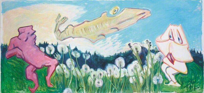 Maria Lassnig, 'Nasenflucht in die Wasenschlucht', 2007, Painting, Oil on canvas, Museum Dhondt-Dhaenens