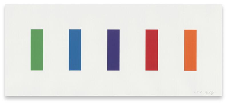 Ellsworth Kelly, 'Color Panels', 2011, Print, 5-color lithograph, Upsilon Gallery