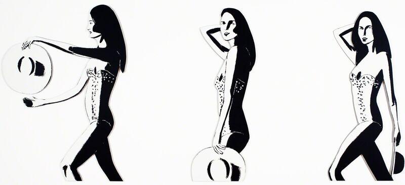 Alex Katz, 'Ariel (Cutout)', 2016, Print, Wall-mounted cutout in 3 panels, Vogtle Contemporary