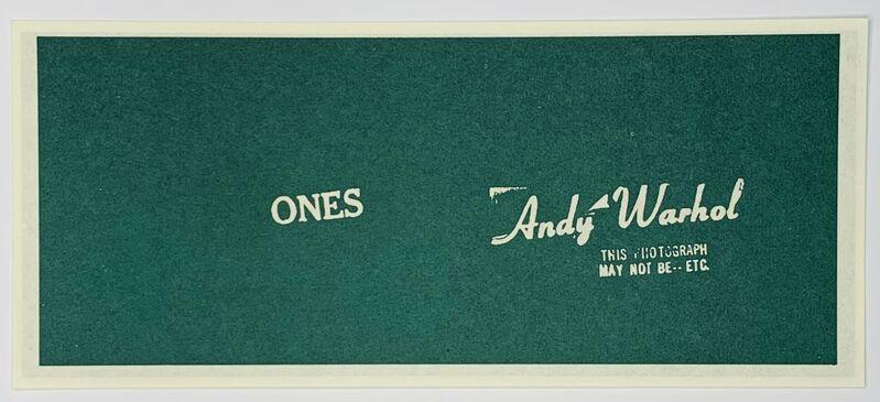 Andy Warhol, 'Warhol Art Cash (Ones)', 1971, Print, Amercian Bank Note Company print, paper, Artificial Gallery