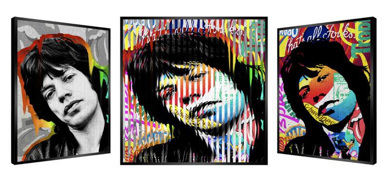 Patrick Rubinstein, 'People & Brand - Mick Jagger ', GFA1037, Painting, Kinetic, Gefen Gallery