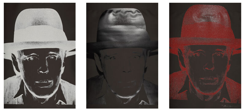 Andy Warhol, 'Joseph Beuys', 1980, Print, Set of 3 screenprint in colours, Galerie Boisseree