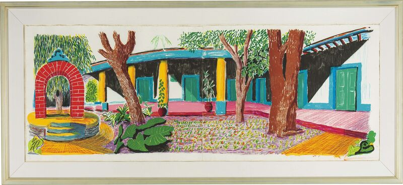 David Hockney, 'Hotel Acatlan: Second Day from the Moving Focus Series', 1984-1985, Print, Lithograph in colors on two sheets of handmade TGL paper, Fine Art Mia
