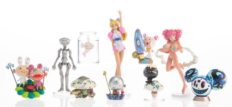 Takashi Murakami, 'Superflat Museum (set of 10)', 2005, Sculpture, PVC figures, Heritage Auctions