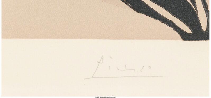 Pablo Picasso, 'Jacqueline au bandeau de face (Grand tête de femme)', 1962, Other, Linoleum cut in colors on Arches paper, Heritage Auctions