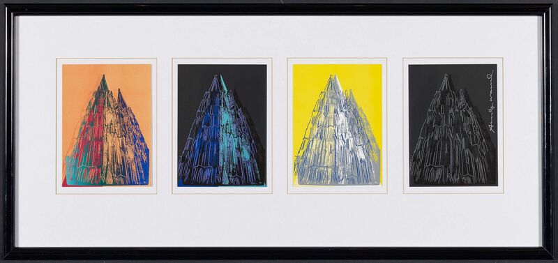 Andy Warhol, 'Cologne Cathedral (Cards)', 1985, Print, Four colour silkscreens on thin card, Van Ham
